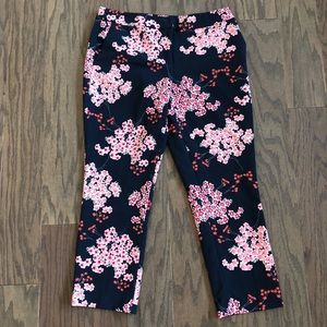 Cynthia Rowley Floral Slim Ankle Pants